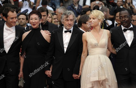 Stock Photo of (l-r) Jury Members British Actor Jude Law Hong Kong Producer Nansun Shi Us Director Robert De Niro Norwegian Writer Linn Ullmann and Chadian Director Mahamat Saleh Haroun Arrive For the Screening of 'Les Bien-aimes' (beloved) and the Closing Award Ceremony of the 64th Cannes Film Festival in Cannes France 22 May 2011 the Screening of the Movie by French Director Christophe Honore Presented out of Competition Closes the Film Festival France Cannes