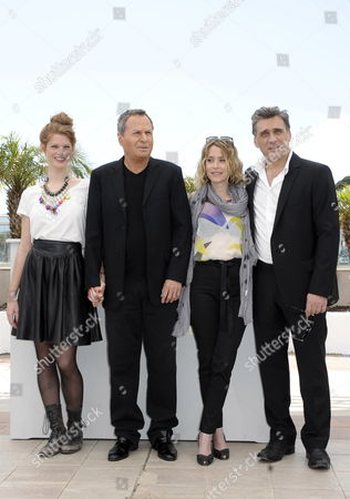 (l-r) Israeli Actors Yuval Scharf Shlomo Bar Aba Alma Zak and Lior Ashkenazi Pose During the Photocall For 'Hearat Shulayim' at the 64th Cannes Film Festival in Cannes France 15 May 2011 the Movie by Israeli Director Joseph Cedar is Presented in the Official Competition of the Film Festival Running From 11 to 22 May France Cannes