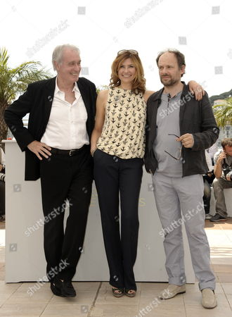 (l-r) French Actors Bernard Le Coq Florence Pernel and Denis Podalydes Pose During the Photocall For 'La Conquete' (the Conquest) at the 64th Cannes Film Festival in Cannes France 18 May 2011 the Movie by French Director Xavier Durringer is Presented out of Competition at the Film Festival Running From 11 to 22 May France Cannes