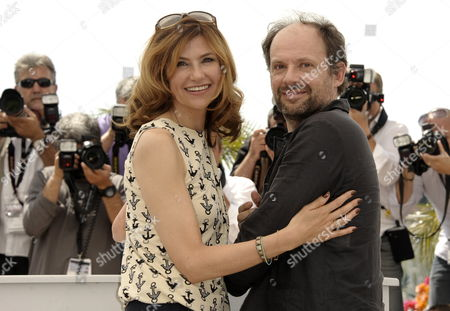 French Actress Florence Pernel (l) and French Actor Denis Podalydes (r) Pose During the Photocall For 'La Conquete' (the Conquest) at the 64th Cannes Film Festival in Cannes France 18 May 2011 the Movie by French Director Xavier Durringer is Presented out of Competition at the Film Festival Running From 11 to 22 May France Cannes