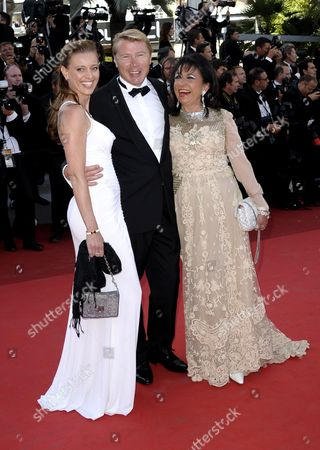 Finnish Former Formula 1 Driver Mika Hakkinen (c) His Partner Marketa Kromatova (l) and Guest Arrive For the Screening of 'The Tree of Life' During the 64th Cannes Film Festival in Cannes France 16 May 2011 the Movie by Us Director Terrence Malick is Presented in the Official Competition of the Film Festival Running From 11 to 22 May France Cannes