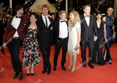 Us Actor Ezra Miller (l) Co-writer Rory Stewart Kinnear (3-l) Producer Luc Roeg (4-l) Us Actor John C Reilly (3-r) British Actress Tilda Swinton (r) and Guests Arrive For the Screening of 'We Need to Talk About Kevin' During the 64th Cannes Film Festival in Cannes France 12 May 2011 the Movie by British Director Lynne Ramsay is Presented in the Official Competition of the Film Festival Running From 11 to 22 May France Cannes