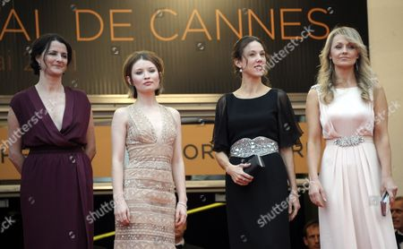 (l-r) Australian Director Julia Leigh Actress Emily Browning Producer Jessica Brentnall and Actress Rachael Blake Arrivefor the Screening of 'Sleeping Beauty' During the 64th Cannes Film Festival in Cannes France 12 May 2011 the Movie by Australian Director Julia Leigh is Presented in the Official Competition of the Film Festival Running From 11 to 22 May France Cannes