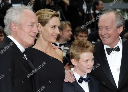 (l-r) Belgian Director Jean-pierre Dardenne Belgian Actress Cecile De France Belgian Actor Thomas Doret and Belgian Director Luc Dardenne Arrive For the Screening of 'Les Bien-aimes' (beloved) and the Closing Award Ceremony of the 64th Cannes Film Festival in Cannes France 22 May 2011 the Screening of the Movie by French Director Christophe Honore Presented out of Competition Closes the Film Festival France Cannes
