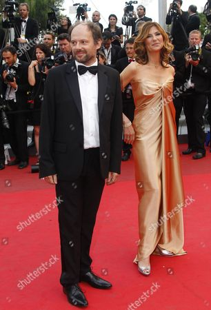 French Actors Denis Podalydes (l) and Florence Pernel (r) Arrive For the Screening of 'La Conquete' (the Conquest) During the 64th Cannes Film Festival in Cannes France 18 May 2011 the Movie by French Director Xavier Durringer is Presented out of Competition at the Film Festival Running From 11 to 22 May France Cannes
