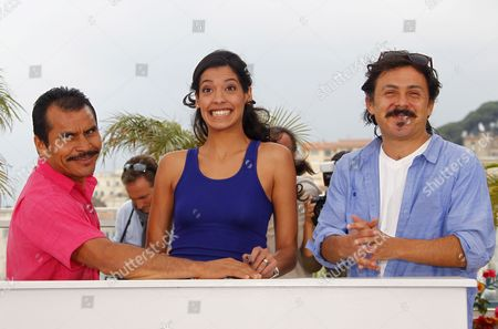 (l-r) Mexican Actor Noe Hernandez Actress Stephanie Sigman and Mexican Director Gerardo Najanjo Poses During the Photocall For 'Miss Bala' at the 64th Cannes Film Festival in Cannes France 13 May 2011 His Movie is Presented in the 'Un Certain Regard' Section of the Film Festival Running From 11 to 22 May France Cannes
