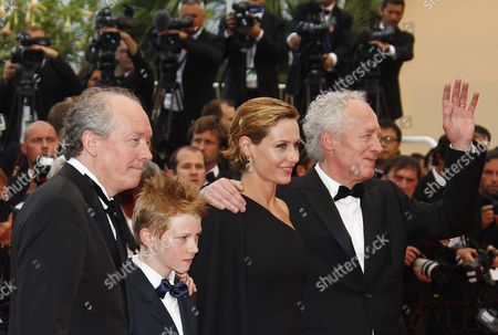 (l-r) Belgian Director Luc Dardenne Belgian Actor Thomas Doret Belgian Actress Cecile De France and Belgian Director Jean-pierre Dardenne Arrive For the Screening of 'Les Bien-aimes' (beloved) and the Closing Award Ceremony of the 64th Cannes Film Festival in Cannes France 22 May 2011 the Screening of the Movie by French Director Christophe Honore Presented out of Competition Closes the Film Festival France Cannes