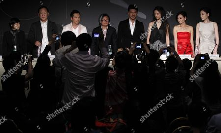 (2l-r) Jimmy Wang Chinese Actor Donnie Yen Director Peter Chan Actors Takeshi Kaneshiro Tang Wei Kara Hui and Li Xiaoran Attend the Press Conference For 'Wu Xia' During the 64th Cannes Film Festival in Cannes France 14 May 2011 the Movie by Peter Chan is Presented out of Competition As Part of the Midnight Screenings Section at the Film Festival Running From 11 to 22 May France Cannes