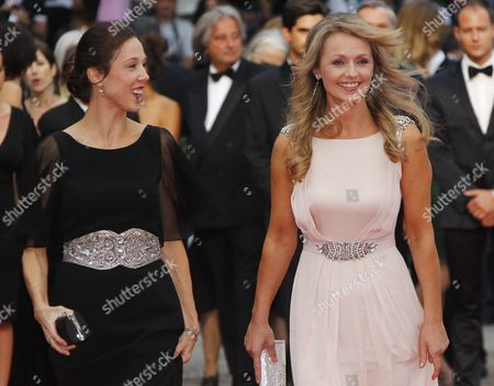 Australian Producer Jessica Brentnall (l) and Actress Rachael Blake (r) Arrive For the Screening of 'Sleeping Beauty' During the 64th Cannes Film Festival in Cannes France 12 May 2011 the Movie by Julia Leigh is Presented in the Official Competition of the Film Festival Running From 11 to 22 May France Cannes