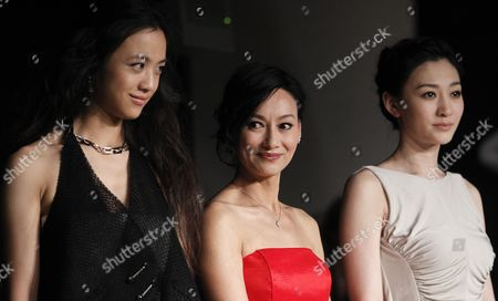 (l-r) Chinese Actresses Tang Wei Kara Hui and Li Xiaoran Attend the Press Conference For 'Wu Xia' During the 64th Cannes Film Festival in Cannes France 14 May 2011 the Movie by Chinese Director Peter Chan is Presented out of Competition As Part of the Midnight Screenings Section at the Film Festival Running From 11 to 22 May France Cannes