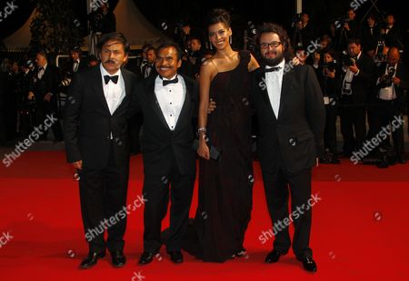 (l-r) Mexican Director Gerardo Najanjo Mexican Actor Noe Hernandez Actress Stephanie Sigman and Producer Pablo Cruz Arrive For the Screening of 'Polisse' During the 64th Cannes Film Festival in Cannes France 13 May 2011 the Movie by French Director Maiwenn is Presented in the Official Competition of the Film Festival Running From 11 to 22 May France Cannes