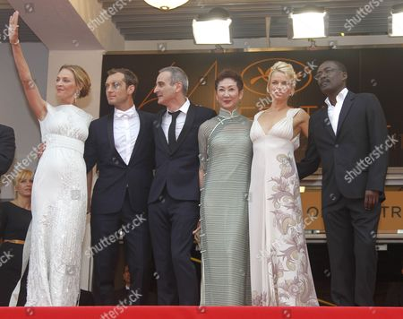 Jury Members Us Actress Uma Thurman British Actor Jude Law French Director Olivier Assayas Hong Kong Producer Nansun Shi Norwegian Writer Linn Ullmann and Chadian Director Mahamat Saleh Haroun Arrive For the Screening of 'Pirates of the Caribbean: on Stranger Tides' During the 64th Cannes Film Festival in Cannes France 14 May 2011 the Movie by Us Director Rob Marshall is Presented out of Competition at the Film Festival Running From 11 to 22 May France Cannes