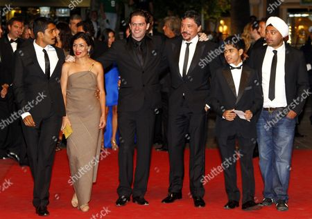 (l-r) Mexican Actor Tenoch Huerta Mexican Actress Dolores Heredia Mexican Director Everardo Gout Spanish Actor Carlos Bardem Actor Kristian Ferrer and Ethiopian Actor Vikram Chatwal Arrive For the Screening of 'Dias De Gracia' During the 64th Cannes Film Festival in Cannes France 17 May 2011 the Movie by Everardo Gout is Presented in the 'Midnight Screenings' Section of the Film Festival Running From 11 to 22 May France Cannes