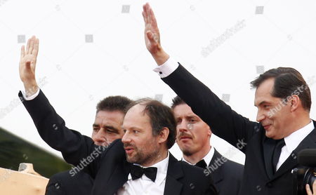French Actors Denis Podalydes (l) and Samuel Labarthe (r) Arrive For the Screening of 'La Conquete' (the Conquest) During the 64th Cannes Film Festival in Cannes France 18 May 2011 the Movie by French Director Xavier Durringer is Presented out of Competition at the Film Festival Running From 11 to 22 May France Cannes