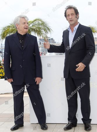 French Actor Vincent Lindon (r) and French Director Alain Cavalier (l) Pose During the Photocall For 'Pater' at the 64th Cannes Film Festival in Cannes France 18 May 2011 the Movie by Alain Cavalier is Presented in the Official Competition of the Film Festival Running From 11 to 22 May France Cannes