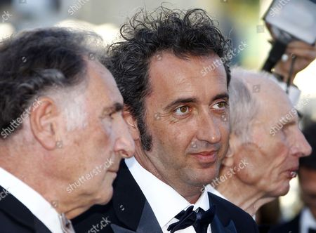 Us Actor Judd Hirsch Italian Director Paolo Sorrentino and German Actor Heinz Lieven Arrive For the Screening of 'This Must Be the Place' During the 64th Cannes Film Festival in Cannes France 20 May 2011 the Movie by Paolo Sorrentino is Presented in the Official Competition of the Film Festival Running From 11 to 22 May France Cannes
