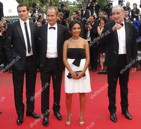 (l-r) French Actors Gregory Fitoussi Hippolyte Girardot Saida Jawad and Bernard Le Coq Arrive For the Screening of 'La Conquete' (the Conquest) During the 64th Cannes Film Festival in Cannes France 18 May 2011 the Movie by French Director Xavier Durringer is Presented out of Competition at the Film Festival Running From 11 to 22 May France Cannes