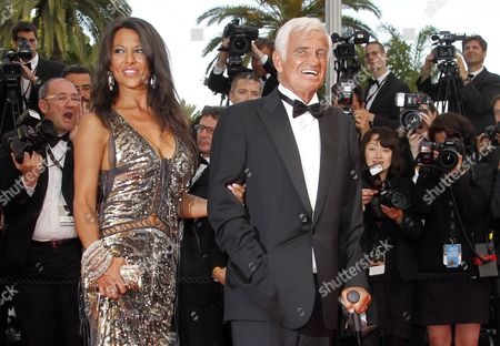 Stock Photo of French Actor Jean-paul Belmondo (r) and His Girlfriend Barbara Gandolfi (l) Arrive to a Tribute Ceremony During the 64th Cannes Film Festival in Cannes France 17 May 2011 the Film Festival Running From 11 to 22 May is Paying Tribute to Jean-paul Belmondo For His Career France Cannes