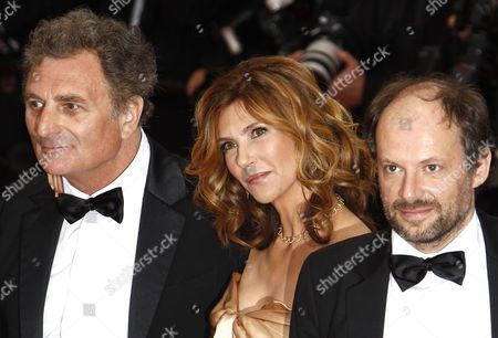 (l-r) French Screenwriter Patrick Rotman French Actors Denis Podalydes and Florence Pernel Arrive For the Screening of 'La Conquete' (the Conquest) During the 64th Cannes Film Festival in Cannes France 18 May 2011 the Movie by French Director Xavier Durringer is Presented out of Competition at the Film Festival Running From 11 to 22 May France Cannes