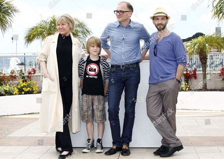 (l-r) Austrian Actress Christine Kain Austrian Actor David Rauchenberger Austrian Director Markus Schleinzer and Austrian Actor Michael Fuith Pose During the Photocall For 'Michael' at the 64th Cannes Film Festival in Cannes France 15 May 2011 the Movie by Markus Schleinzer is Presented in the Official Competition of the Film Festival Running From 11 to 22 May France Cannes