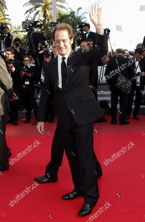 French Actor Vincent Lindon Leaves the Screening of 'Pater' During the 64th Cannes Film Festival in Cannes France 17 May 2011 the Movie by French Director Alain Cavalier is Presented in the Official Competition of the Film Festival Running From 11 to 22 May France Cannes