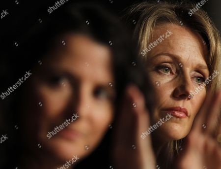 Australian Director Julia Leigh (l) and Australian Actress Rachael Blake (r) Attend the Press Conference For 'Sleeping Beauty' During the 64th Cannes Film Festival in Cannes France 12 May 2011 the Movie by Julia Leigh is Presented in the Official Competition of the Film Festival Running From 11 to 22 May France Cannes