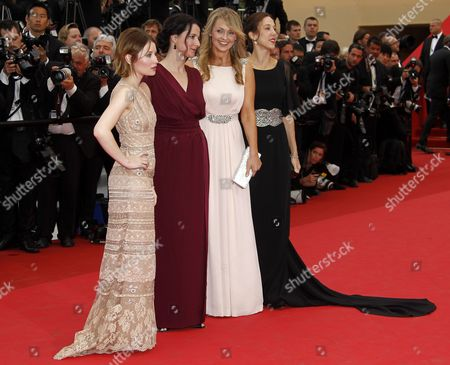 (l-r) Australian Actress Emily Browning Director Julia Leigh Actress Rachael Blake and Producer Jessica Brentnall Arrive For the Screening of 'Sleeping Beauty' During the 64th Cannes Film Festival in Cannes France 12 May 2011 the Movie by Australian Director Julia Leigh is Presented in the Official Competition of the Film Festival Running From 11 to 22 May France Cannes