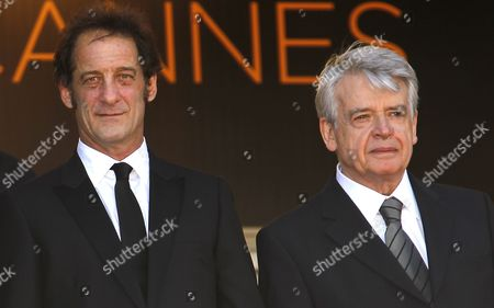 French Actor Vincent Lindon (l) and French Director Alain Cavalier (r) Arrive For the Screening of 'Pater' During the 64th Cannes Film Festival in Cannes France 17 May 2011 the Movie by Alain Cavalier is Presented in the Official Competition of the Film Festival Running From 11 to 22 May France Cannes