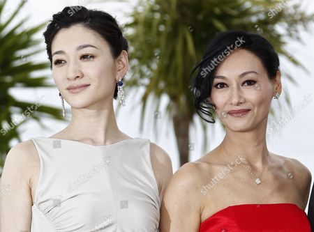 Stock Image of Chinese Actresses Li Xiaoran (l) and Kara Hui (r) Pose During the Photocall For 'Wu Xia' During the 64th Cannes Film Festival in Cannes France 14 May 2011 the Movie by Chinese Director Peter Chan is Presented out of Competition As Part of the Midnight Screenings Section at the Film Festival Running From 11 to 22 May France Cannes