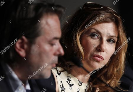 French Actress Florence Pernel (r) and French Director Xavier Durringer (l) Attend the Press Conference For 'La Conquete' (the Conquest) During the 64th Cannes Film Festival in Cannes France 18 May 2011 the Movie by Xavier Durringer is Presented out of Competition at the Film Festival Running From 11 to 22 May France Cannes