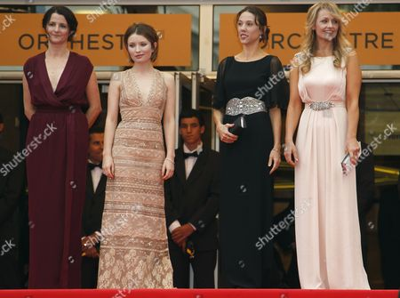 (l-r) Australian Director Julia Leigh Actress Emily Browning Producer Jessica Brentnall and Actress Rachael Blake Arrive For the Screening of 'Sleeping Beauty' During the 64th Cannes Film Festival in Cannes France 12 May 2011 the Movie by Julia Leigh is Presented in the Official Competition of the Film Festival Running From 11 to 22 May France Cannes