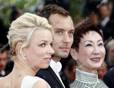 Jury Members (l-r) Norwegian Writer Linn Ullmann British Actor Jude Law and Hong Kong Producer Nansun Shi Arrive For the Screening of 'Pirates of the Caribbean: on Stranger Tides' During the 64th Cannes Film Festival in Cannes France 14 May 2011 the Movie by Us Director Rob Marshall is Presented out of Competition at the Film Festival Running From 11 to 22 May France Cannes