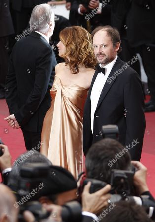 French Actors Denis Podalydes (r) and Florence Pernel (l) Arrive For the Screening of 'La Conquete' (the Conquest) During the 64th Cannes Film Festival in Cannes France 18 May 2011 the Movie by French Director Xavier Durringer is Presented out of Competition at the Film Festival Running From 11 to 22 May France Cannes