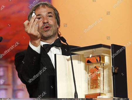 Argentine Director Pablo Giorgelli Receives the Camera D'or Trophy For 'Las Acacias' During the Closing Award Ceremony of the 64th Cannes Film Festival in Cannes France 22 May 2011 the Award Ceremony is Followed by the Screening of 'Les Bien-aimes' (beloved) by French Director Christophe Honore Presented out of Competition France Cannes