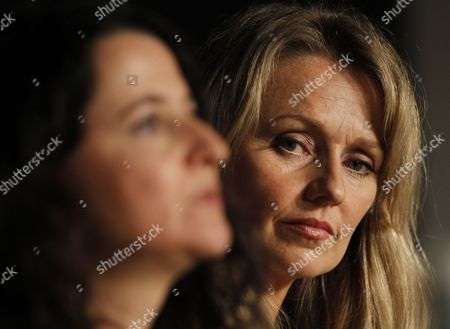 Stock Image of Australian Director Julia Leigh (l) and Australian Actress Rachael Blake (r) Attend the Press Conference For 'Sleeping Beauty' During the 64th Cannes Film Festival in Cannes France 12 May 2011 the Movie by Julia Leigh is Presented in the Official Competition of the Film Festival Running From 11 to 22 May France Cannes