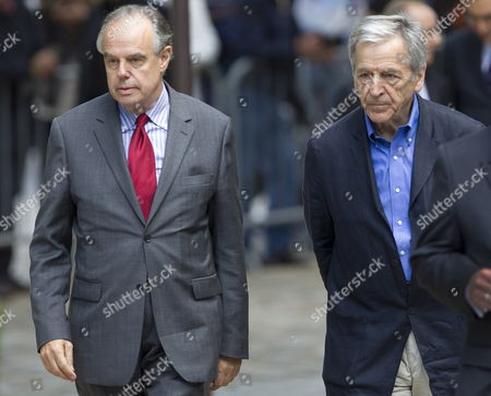French Culture Minister Frederic Mitterrand (l) and French Greek Director Costa Gavras Arrive For a Ceremony to Pay Tribute to French Film Maker Claude Chabrol in Paris France 17 September 2010 Chabrol who Died at the Age of 80 on 17 September 2010 is One of France's Most Eminent Film Directors and Known For Founding the New Wave Movement in French Cinema of the 1950s France Paris