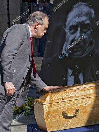 French Culture Minister Frederic Mitterrand Touches the Coffin of French Film Maker Claude Chabrol During a Tribute Ceremony in Paris France 17 September 2010 Chabrol who Died at the Age of 80 on 17 September 2010 is One of France's Most Eminent Film Directors and Known For Founding the New Wave Movement in French Cinema of the 1950s France Paris