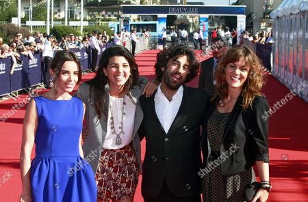French Actress Elodie Bouchez (l-r) British Director Zeina Durra French Actor Karim Saleh and Actress Marianna Kulukundis Pose on the Red Carpet As They Arrive For the Premiere of Their Movie 'The Imperialists Are Still Alive!' at the 36th Annual Deauville American Film Festival in Deauville France 09 September 2010 the Movie is Presented in the Premieres Section at the Festival Running From 03 to 12 September France Deauville