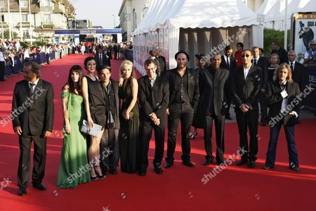 Jury Members (l-r) French Director Tony Gatlif French Director Christine Citti French Actress Jeanne Balibar French Actor Denis Lavant French Actress and Jury President Emmanuelle Beart Belgian Director Lucas Belvaux Belgian Director Fabrice Du Welz Mauritanian Director Abderrahmane Sissako Moroccan Director Faouzi Bensaidi and Sfrench-spanish Singer-songwriter Nilda Fernandez Pose on the Red Carpet at the 36th Annual Deauville American Film Festival in Deauville France 03 September 2010 the Festival Running From 03 to 12 September Opens with a Tribute to Us-born British Director Terry Gilliam with the Screening of His Movie 'Brazil - Director's Cut ' France Deauville