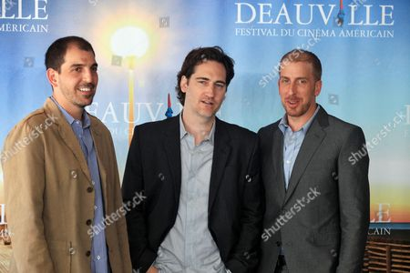 Us Screenwritters Glenn Kessler (l-r) Daniel Zelman and Todd a Kessler Pose During a Photocall at the 36th Annual Deauville American Film Festival in Deauville France 04 September 2010 the Screenwriters Participate in the Festival's Round Table Entitled Writing in Question: a Franco-american Encounter Between French and Us Screenwriters on the Theme of Writing Serials the Festival Runs From 03 to 12 September France Deauville