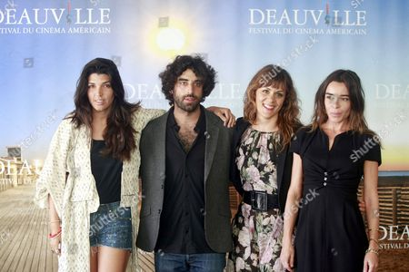 (l-r) British Director Zeina Durra French Actor Karim Saleh British Actress Marianna Kulukundis and French Actress Elodie Bouchez Pose During a Photocall For the Movie 'The Imperialists Are Still Alive!' at the 36th Annual Deauville American Film Festival in Deauville France 09 September 2010 the Movie by Zeina Durra is Presented in the Premieres Section at the Festival Running From 03 to 12 September France Deauville