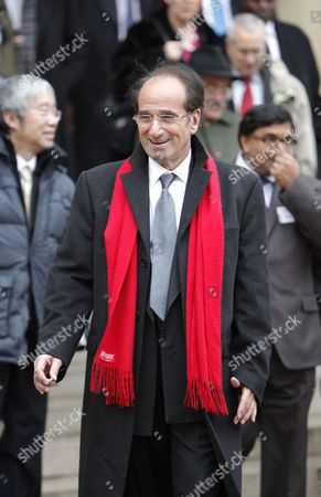 French Economist Jean-paul Fitoussi (c) Leaves the Elysee Palace in Paris France 06 January 2011 After a Working Lunch with French President Nicolas Sarkozy and International Economists to Prepare the G20 Meeting French President Has Set As G20 Priorities a Major Overhaul of the Global Economy's Infrastructure Including a Reforming the Monetary System and Ending Excessive Price Swings in Commodity Markets As Well As Improving Economic Governance France Paris