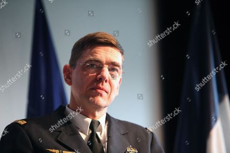 Stock Picture of General Stephane Abrial of France Commander of Nato's Allied Command Transformation (act) Holds a Press Conference at the Cape in Paris France 27 May 2010 General Abrial is the First Non-us Commander of Act France Paris
