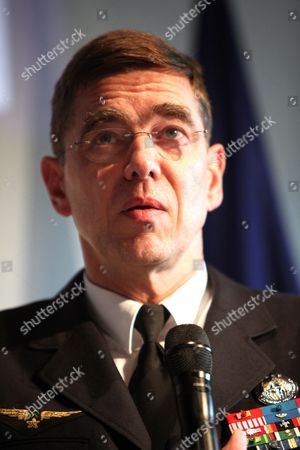 General Stephane Abrial of France Commander of Nato's Allied Command Transformation (act) Holds a Press Conference at the Cape in Paris France 27 May 2010 General Abrial is the First Non-us Commander of Act France Paris