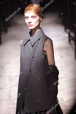 Russian Model Olga Sherer Wears a Creation As Part of the Peachoo and Krejberg Ready to Wear Fall-winter 2010/2011 Collection Presented During the Paris Fashion Week in Paris France 03 March 2010 the Fashion Week Runs From 02 March to 10 March France Paris