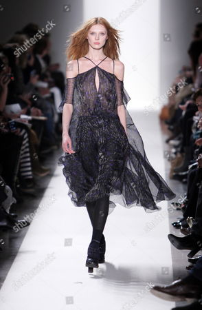 Russian Model Olga Sherer Wears a Creation As Part of the Vanessa Bruno Ready-to-wear Fall-winter 2010/11 Collection Presented During the Paris Fashion Week in Paris France 08 March 2010 the Fashion Week Runs From 02 March to 10 March France Paris