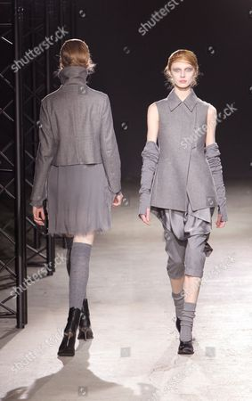 Russian Model Olga Sherer (r) Wears a Creation As Part of the Peachoo and Krejberg Ready to Wear Fall-winter 2010/2011 Collection Presented During the Paris Fashion Week in Paris France 03 March 2010 the Fashion Week Runs From 02 March to 10 March France Paris