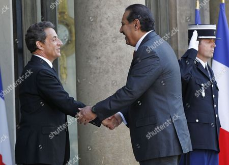 Editorial photo of France Sarkozy Meets with Qatari Prime Minister - May 2011