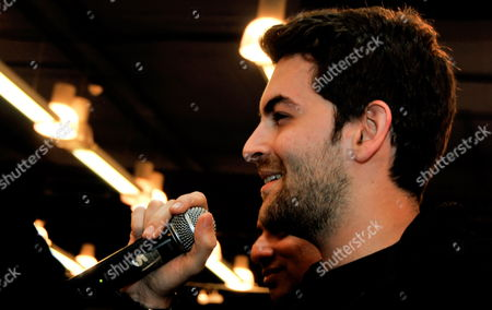 Indian Bollywood Actor Neil Nitin Mukesh Gestures As He Attends a Function During the Promotional Event of His Upcoming Film 'Jail' in Southern Indian City of Bangalore on 23 October 2009 India Bangalore