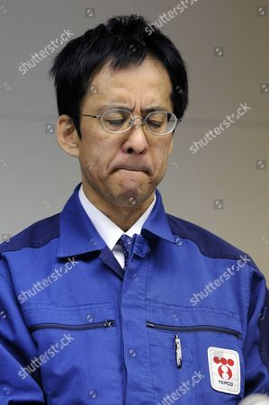 Tokyo Electric Power Co Official Takeshi Takahashi Reacts During a News Conference at the Company Headquarters in Tokyo Japan 30 March 2011 Tepco Chairman Tsunehisa Katsumata Said That the Decommissioning of the Reactors Nos 1-4 at the Fukushima Daiichi Nuclear Power Plant is Inevitable and It Will Be More Than a Few Weeks to Fix the Fukushima Daiichi Nuclear Power Plant Japan Tokyo
